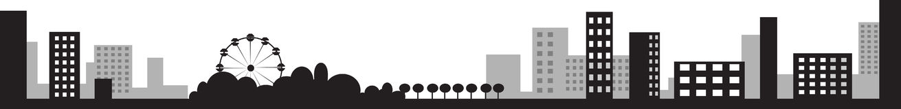 Vector illustration of city silhouette Royalty Free Stock Photos