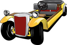 Vector illustration of clasic car modification. Design can be used to  a logo, mascot, icon, T-shirt and poster design Royalty Free Stock Photo