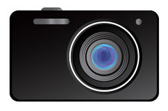 Vector illustration of classic digital camera Royalty Free Stock Photo