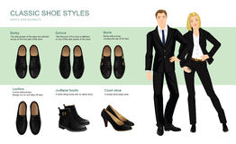 Vector illustration of classic shoes style. Stock Photography