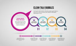 Clean Talk Bubble Infographic Royalty Free Stock Photos