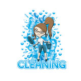 Vector illustration. Cleaning. Stock Images