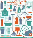 Vector illustration of cleaning. Royalty Free Stock Photo