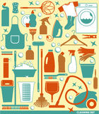 Vector illustration of cleaning. Stock Photo