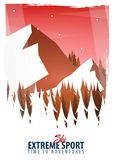 Vector illustration of Climbing, Trekking, Hiking, Mountaineering. Extreme sports, outdoor recreation, adventure in the mountains,. Vector illustration of Royalty Free Stock Image