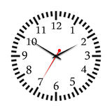 Vector illustration of a clock Royalty Free Stock Photo
