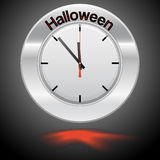 Vector  illustration of clock Halloween Royalty Free Stock Images