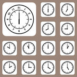 Vector Illustration, Clock Icon for Creative and Design Work Royalty Free Stock Photos
