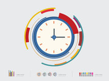 Vector illustration of Clock icon Royalty Free Stock Photo