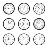 Vector illustration of clock Royalty Free Stock Photos
