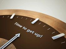 Vector illustration clock. Vector illustration clock with the words time to get up Stock Image