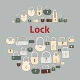 Vector illustration of closed locks. Stock Photos