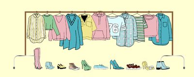 Vector illustration of clothes stock illustration