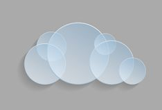 Vector illustration of cloud Stock Image