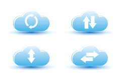 Vector illustration of cloud computing Stock Photography