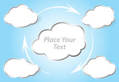 Vector illustration Cloud computing concept Royalty Free Stock Photo