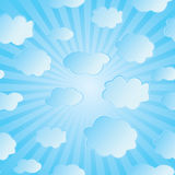 Vector illustration of clouds Stock Photography