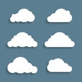 Vector illustration of clouds Royalty Free Stock Photos
