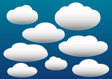 Vector illustration of clouds collection Stock Photo