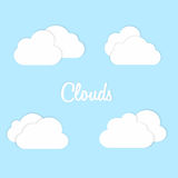 Vector illustration of clouds collection. Stock Photography