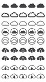 Vector illustration of clouds collection Royalty Free Stock Images
