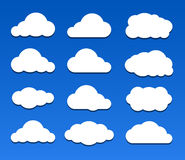 Vector illustration of clouds set Royalty Free Stock Photo
