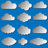 Vector illustration of clouds set Royalty Free Stock Photography
