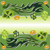 Vector illustration of clover in green. It can be used for decoration Royalty Free Stock Photo