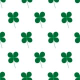 Vector illustration. Clover icon on white background. Leaf of clover. Seamless pattern royalty free illustration