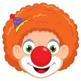 Vector Illustration Of A Clown Royalty Free Stock Image