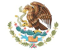 Coat of arms of Mexico. Vector illustration of the Coat of arms of Mexico stock illustration