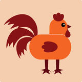 Vector Illustration of cock Royalty Free Stock Photos