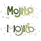 Vector illustration of cocktail mojito Royalty Free Stock Photo