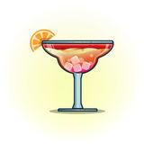 Vector illustration cocktails drinks in glasses vector flat icon Stock Photo
