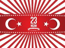 Vector illustration of the cocuk baryrami 23 nisan , translation: Turkish April 23 National Sovereignty and Children`s Day, graph. Ic design to the Turkish Stock Images