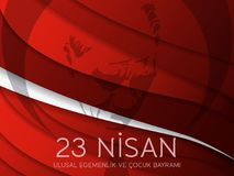 Vector illustration of the cocuk baryrami 23 nisan , translation: Turkish April 23 National Sovereignty and Children`s Day, graph. Ic design to the Turkish Royalty Free Stock Photography