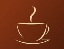 Vector illustration of coffee Royalty Free Stock Photo