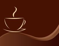 Vector illustration of coffee Royalty Free Stock Images