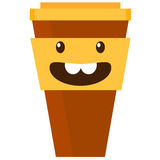 Vector illustration of coffee cup Stock Photos