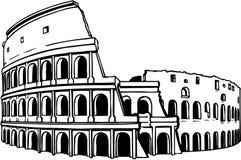 Coliseum Ruins Illustration. A vector illustration of coliseum ruins vector illustration