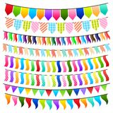 Colorful Bunting Stock Photography