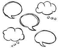 Collection of comic style speech bubbles Stock Photos