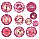 Collection of cosmetics labels and badges Royalty Free Stock Image