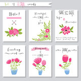 Vector illustration.Collection of cute card Royalty Free Stock Image