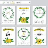 Vector illustration.Collection of cute card Royalty Free Stock Photography