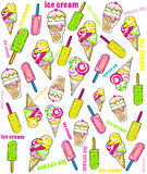 Vector illustration of collection of ice cream Royalty Free Stock Images