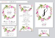 Vector illustration.Collection of wedding Stock Image