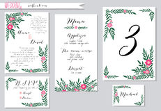 Vector illustration.Collection of wedding Stock Images