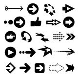 Vector illustration of color arrow icons. Big collection Royalty Free Stock Photography