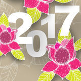2017 vector illustration. 2017 on the color background. Eps 10 vector file Stock Photos